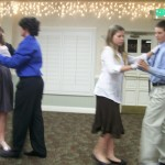 Middle School Cotillion students
